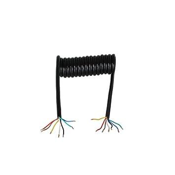 Spiralkabel 1,75m 7-polig OHNE Stecker, Verbindung ...