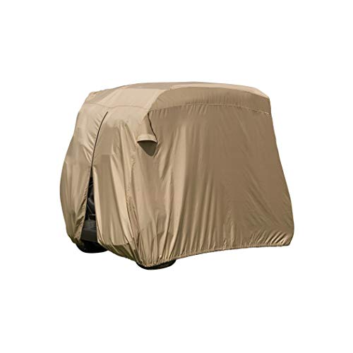 Classic Accessories Fairway Golf Cart Easy-On Cover, 4-Person, Tan