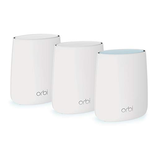 NETGEAR Orbi Whole Home Mesh WiFi System - WiFi router and 2 satellite extenders with speeds up to 2.2 Gbps over 6,000 sq. feet, AC2200 (RBK23)