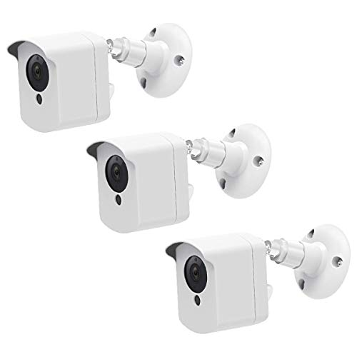 Wyze Cam Wall Mount, Wyze Camera Mount with Weather Proof Cover for Wyzecam V2 1080p Ismart Sports Indoor Outdoor Use, 3 Pack White- by Aotnex