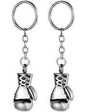 BESPORTBLE 2 Pcs Metal key chain Boxing Gloves Key Holder Ringside Charm KeyRing Gifts Accessories for Handbag Wallet Car