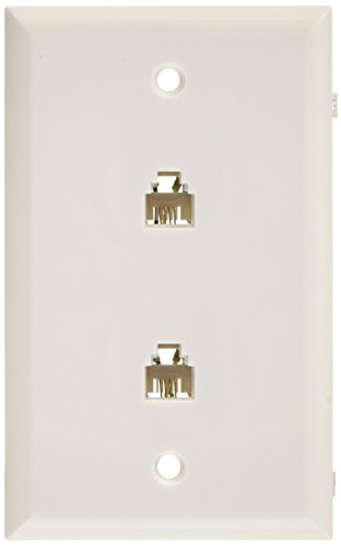 RCA TP253WH Modular Dual Phone Jack Wall Mount (White)