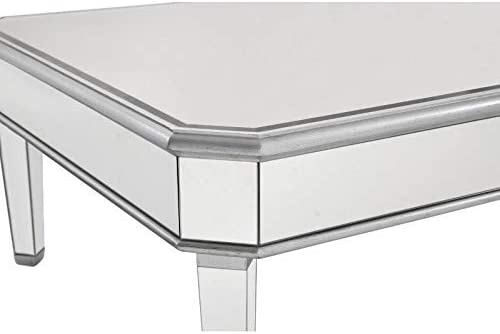Elegant Decor Square Coffee Table, Silver