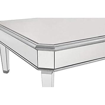 Elegant Decor MF6-1021S Square Coffee Table, Silver