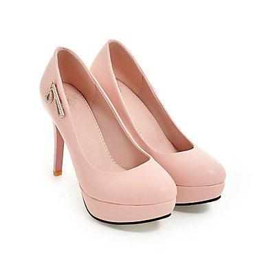 Talones de las mujeres Zapatos Primavera Verano Otoño Invierno Club de la PU para oficina y del partido de la carrera y del vestido de noche del tacón de aguja Negro Rosa Blanco White