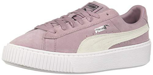 PUMA Women's Suede Platform Sneaker, Elderberry Silver, 7 M US