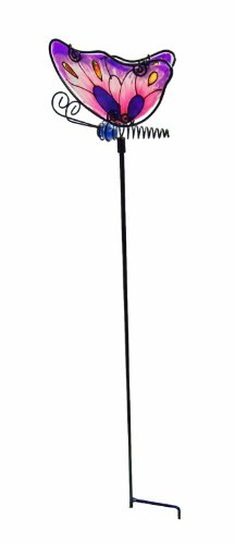 (Continental Art Center CAC2447F Butterfly Garden Stake, 4.33 by 3.15 by 22.05-Inch)