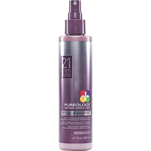 Pureology | Colour Fanatic Leave-in Conditioner Hair Treatment Detangling Spray | Protects Hair Color From Fading | Heat Protectant | Vegan | 6.7 Fl Oz