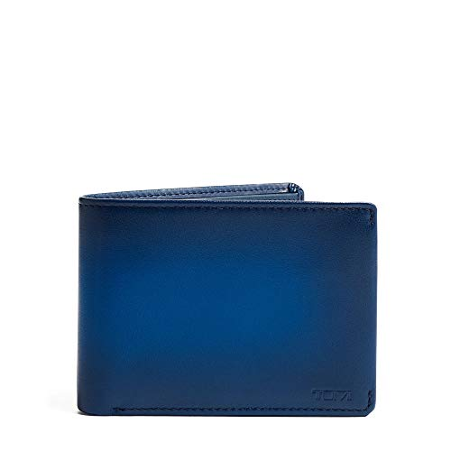 TUMI - Nassau Double Billfold Wallet with RFID ID Lock for Men - Blue Burnished
