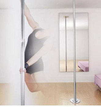 SKB Family Dancing Pole Height - Adjustable Workout Extensions Portable diameter of 1.8'' two extensions Removable and fully portable by SKB Family