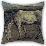 [Elegancebeauty Cushion Cases 16 X 16 Inches / 40 By 40 Cm(both Sides) Nice Choice For Dance Room,gril Friend,dining Room,gf,divan,car Oil Painting Charles Cottet - Old Horse In The] (Shrek Dance Costume)