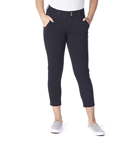 Jag Jeans Women's Flora Chino Crop, Black 4 ()