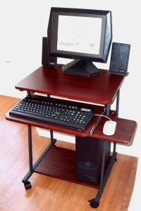 small laptop desk narrow computer amp laptop desk 24 quot w cuzzi 10410