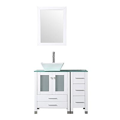 "36"" White Bathroom Vanity"