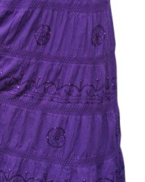 LSS6 Purple LONG SOLID Ethnic Womens Peasant Bohemian Gypsy Full Length Skirt - Lined One Size Fits Most by BombayFashions (Image #2)