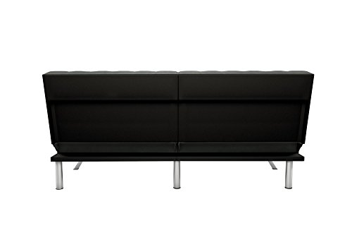 DHP Emily Includes Chrome Legs and Rich Velvet Upholstery, Grey