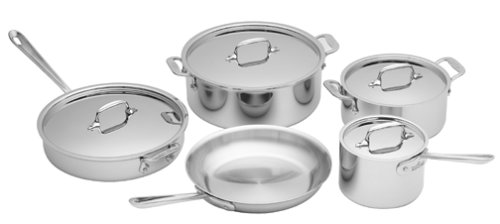 All-Clad 5000-9 Stainless 9-Piece Cookware Set (All Clad Stainless 9 Piece Cookware Set)