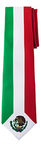 Jacob Alexander Mexico Country Flag Colors Men's Necktie - Mexican Vertical Green White Red Colors Stripe Design -