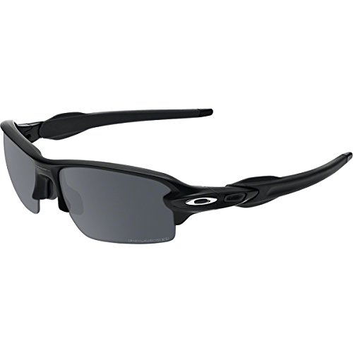 Oakley Men's Flak 2.0 OO9295-07 Polarized Iridium Rectangular Sunglasses, Polished Black, 59 mm