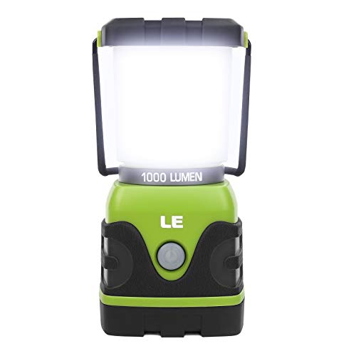 LE Led-campinglamp, ultra helder, 1000 lumen, 4 lichtmodi, dimbaar, zoeklicht, werkt op batterijen, noodverlichting voor…