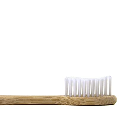NV Eco-friendly Natural Bamboo Toothbrush 100% Organic and Biodegradable, Soft BPA Free Bristles for Kids and Adults- 4 Pack