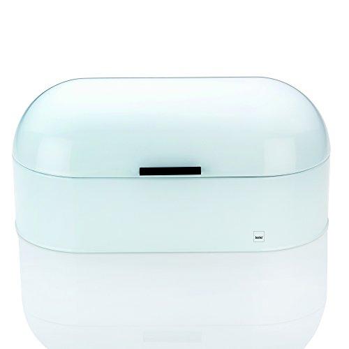 Kela 311165 Brotkasten, Glänzendes Metall, 44 x 21,5, Höhe: 22 cm, Frisco, weiß