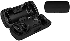 Featured Protective Case for Bose SoundSport Free Truly Wireless Sport Headphones Charger Box, Mesh Pocket for Cable and Other Accessories (Black)