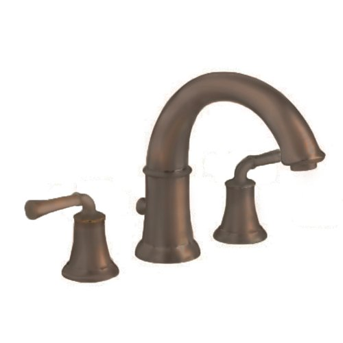 American Standard 7420.900.224 Portsmouth Deck-Mount Tub Filler with Lever Handles, Oil Rubbed Bronze