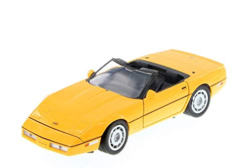 - Showcasts 1986 Chevy Corvette Convertible, Yellow 73298YL/6 - 1/24 Scale Diecast Model Toy Car