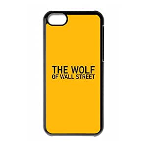 iPhone 5c Cell Phone Case Black The Wolf Of Wallstreet Yellow Film Logo JNR2151342