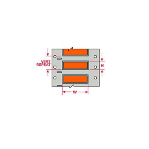 Brady 3PS-094-2-OR-S PermaSleeve Wire Marking Sleeves, 0.182'' Height, 2.00'' Width, Polyolefin (B-342) Orange (Roll of 500) by Brady