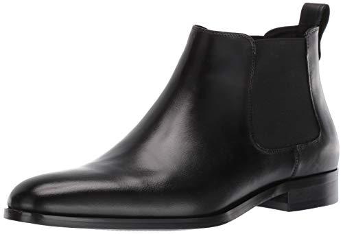 Steve Madden Men's Yearn Chelsea Boot, Black Leather, 10 M US