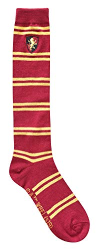 Harry Potter Gryffindor Striped Juniors/Ladies Knee High Socks with Embroidered Crest, Shoe: 4-10 from Harry Potter