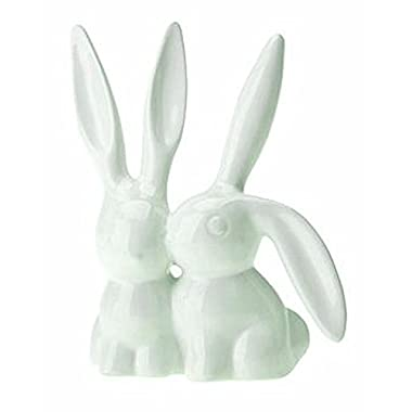 Creative Co-Op Ceramic Bunny Rabbit Ring Holder