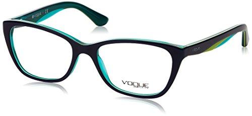 - Vogue VO2961 Eyeglass Frames 2311-53 - Blue/yellow Fluo/tr Aqua VO2961-2311-53