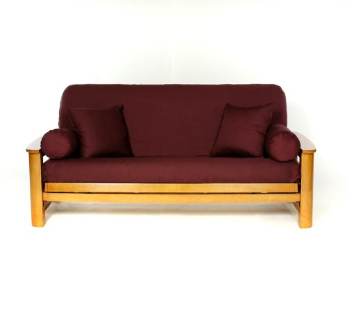 Lifestyle Covers 100% Cotton Burgandy Full Size Futon Cover