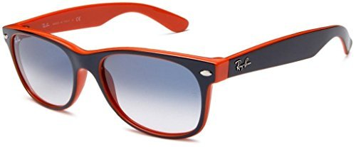Ray Ban RB2132 789/3F 52 Blue-Orange New Wayfarer Sunglasses Bundle-2 - 52 Wayfarer