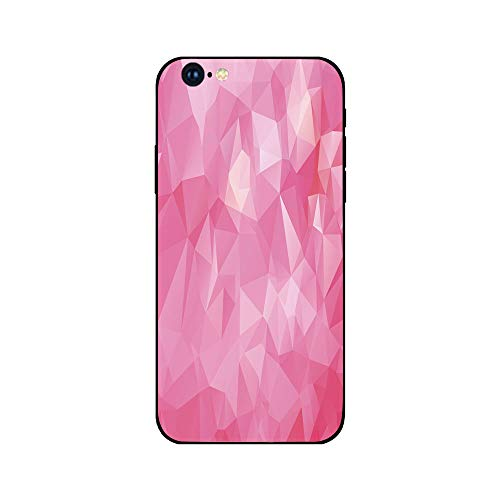 Phone Case Compatible with iphone6 iphone6s mobile phone covers phone shell Brandnew Tempered Glass Backplane,Light Pink,Abstract Mosaic Style Geometric Dimension Fractal Polygonal Illustration,Magent