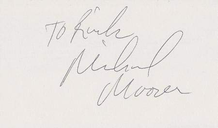 Michael Moorer Signed - Autographed 3x5 inch Card - Guaranteed to pass - Boxer - JSA Certified - Autographed Boxing Cards