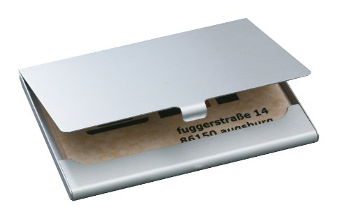 Sigel VZ135 Visitenkarten-Etui, silber matt, Aluminium, für 15 Karten