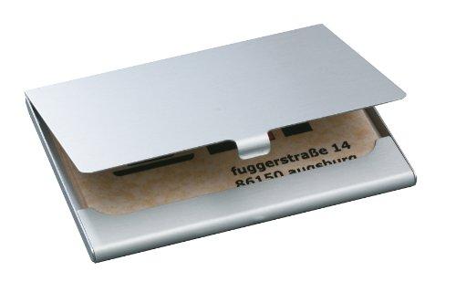 Sigel VZ135 Visitenkarten-Etui, silber matt, Alu, für 15 Karten