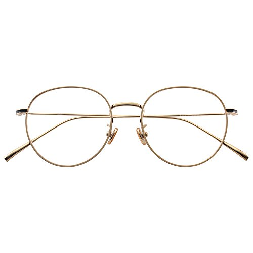HUFU Oval Classic Fashion Alloy Metal Frame Clear Lens Round Circle Eye Glasses - - Eyeware Computer