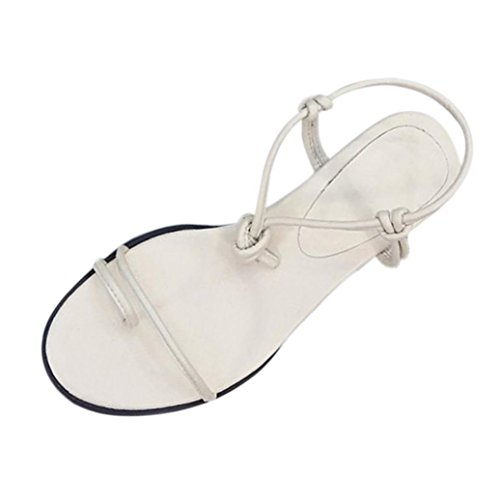 TacóN Mujer Beige Y De Elegante para Sandalias Romanas Verano Sandalias Romanas OHQ con Sandalias Grueso Plano Mujeres Zapatos De De Mujer Plataforma Planas z0BgPxq7w