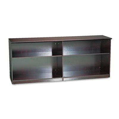 Veneer Low Wall Cabinet without Doors, 72w x 19d x 29-1/2h, Mahogany, Sold as 1 (Corsica Low Wall Cabinet)
