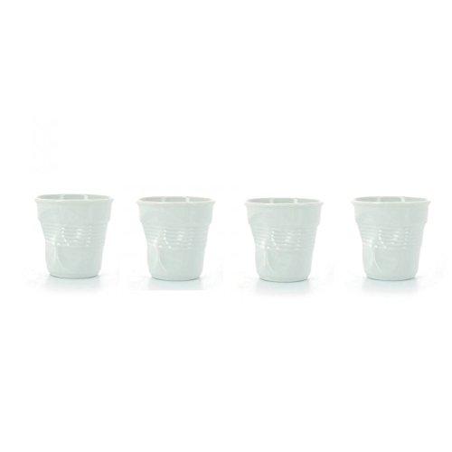 REVOL 616096/4 RGO0108 Set of 4 Crumple Tumblers, 2.75oz, White