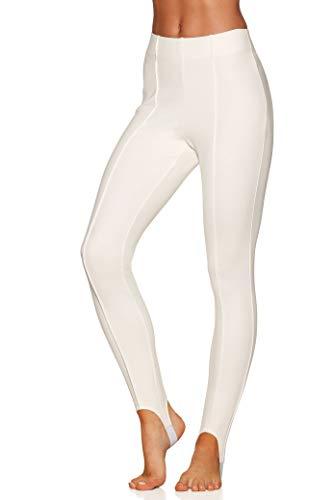 Boston Proper Women's Basic Ponte Knit Mid-Rise Stirrup Legging Off White Small