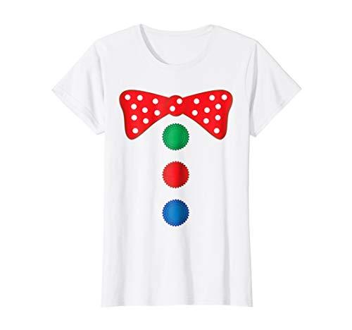 Womens Clown Bow Tie Halloween Costume Funny T-shirt Medium -
