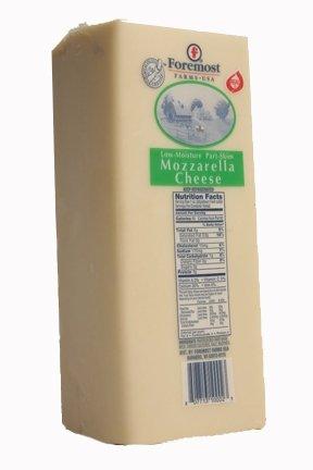 Foremost Farms Mozzerella 6# - Cheese Skim Part Mozzarella