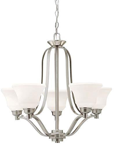 Kichler 1783NIL18 Langford Chandelier, 5-Light LED 50 Total Watts, Brushed -