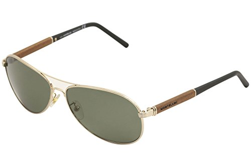 Mont Blanc 409 28R Gold 409S Aviator Sunglasses Polarised Lens Category - Aviator Polarised Sunglasses